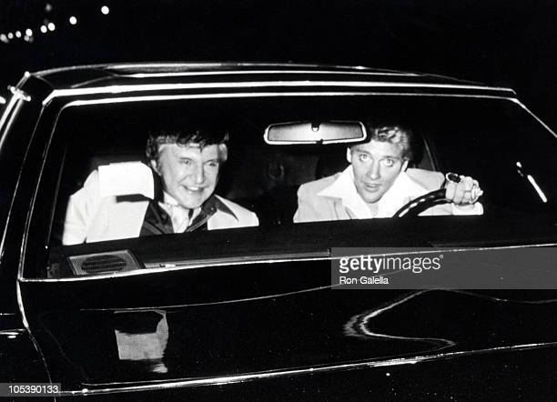 Liberace and Scott Thorson during Liberace at La Cage Aux Folles in Hollywood April 21 1981 at La Cage Aux Folles in Hollywood California United...
