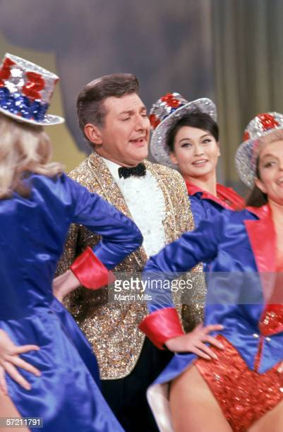 Liberace on stage during the taping of The Dean Martin Variety Show in 1966 in Hollywood California