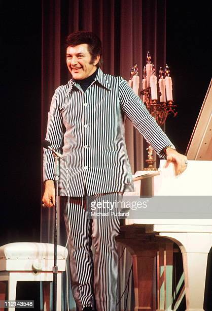 Liberace performs on stage UK circa 1983