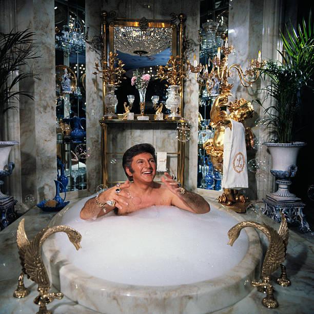 Liberace Taking a Bubble Bath