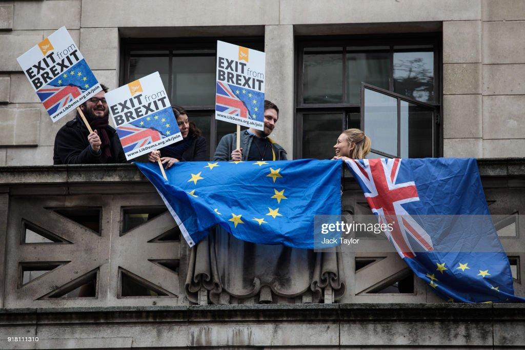 Boris Johnson Gives Speech On Brexit