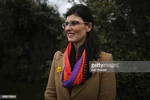 Liberal Democrat candidate for Oxford West and Abingdon Layla Moran listens as Nick Clegg speaks to the media after launching the party's General...