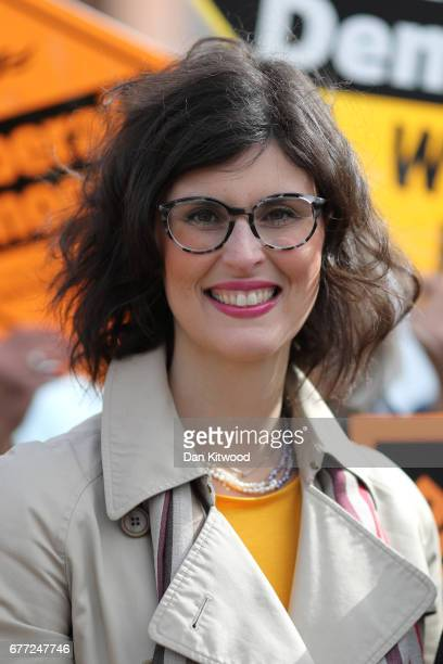 Liberal Democrat candidate for the constituency of Oxford West and Abingdon Layla Moran looks on before Liberal Democrat leader Tim Farron arrives...