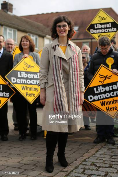 Liberal Democrat candidate for the constituency of Oxford West and Abingdon Layla Moran attends a campaign event on May 3 2017 in Kidlington a...