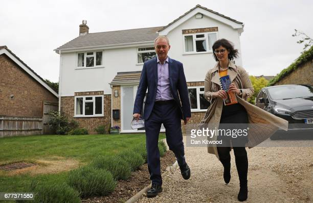 Liberal Democrat candidate for the constituency of Oxford West and Abingdon Layla Moran and Liberal Democrat leader Tim Farron canvass in the local...