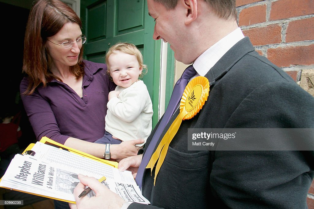 Political Parties Canvass For Voters : News Photo