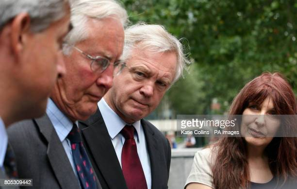 Liberal Democrat home affairs spokesman Chris Huhne Former Labour minister Michael Meacher and exshadow home secretary David Davis are watched by...