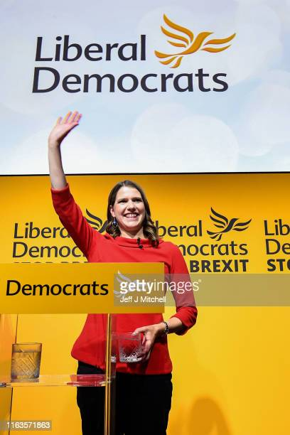 Liberal Democrat Jo Swinson is announced as the new Liberal Democrat party leader on July 22 2019 in London England Former deputy Jo Swinson has been...
