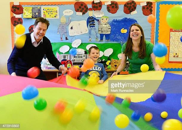 Liberal Democrat leader and Deputy Prime Minister Nick Clegg and the Liberal Democrats parliamentary candidate for East Dunbartonshire Jo Swinson...