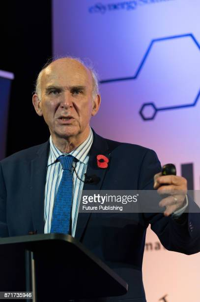 Liberal Democrat leader and former Business Secretary Vince Cable gives a speech in City of London on economic challenges ahead of Autumn Budget and...