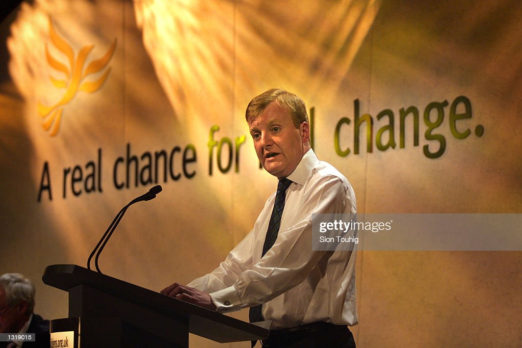 Liberal Democrat Leader Charles Kennedy''s Election Rally : News Photo