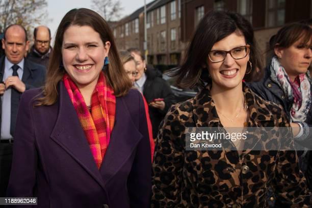 Liberal Democrat leader Jo Swinson and Layla Moran the Liberal Democrat candidate for Oxford West and Abingdon visit Trumpington Park Primary School...
