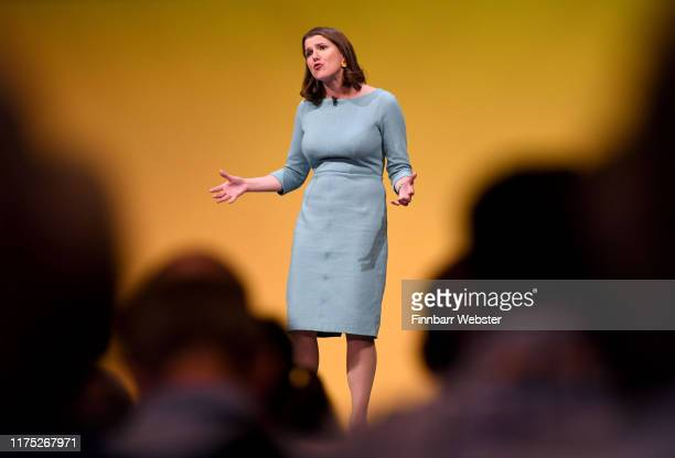Liberal Democrat leader Jo Swinson delivers her first keynote speech at the Liberal Democrat Party Conference at the Bournemouth International Centre...