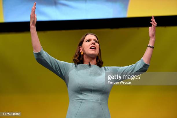 Liberal Democrat leader, Jo Swinson delivers her first keynote speech at the Liberal Democrat Party Conference at the Bournemouth International...