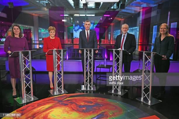 Liberal Democrat leader Jo Swinson SNP leader Nicola Sturgeon Plaid Cymru leader Adam Price Labour Party leader Jeremy Corbyn and Green Party...