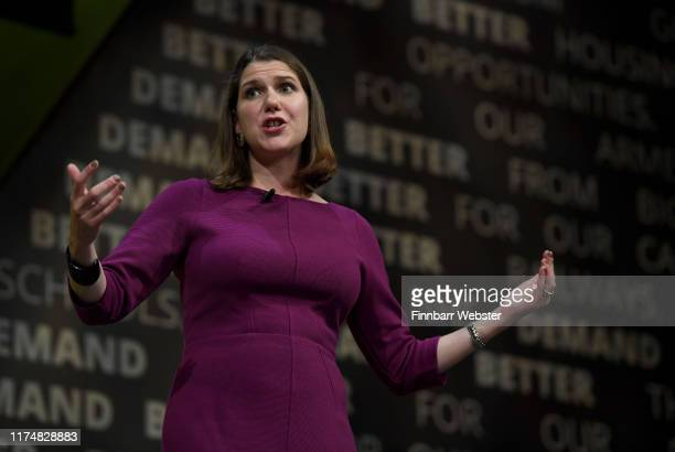 Liberal Democrat leader Jo Swinson speaks at a question and answer session at the Liberal Democrat Party Conference at the Bournemouth International...