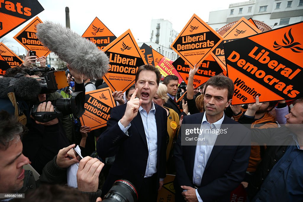 Nick Clegg Campaigns In Maidstone And Carshalton : News Photo