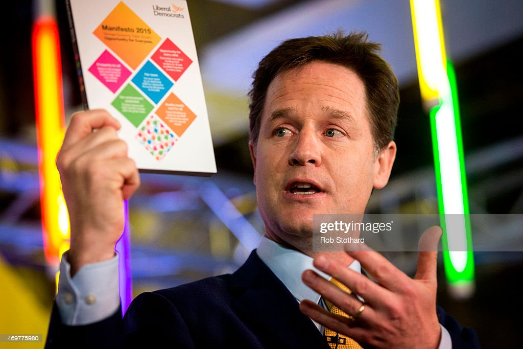 Liberal Democrats Launch Their National Election Manifesto : News Photo