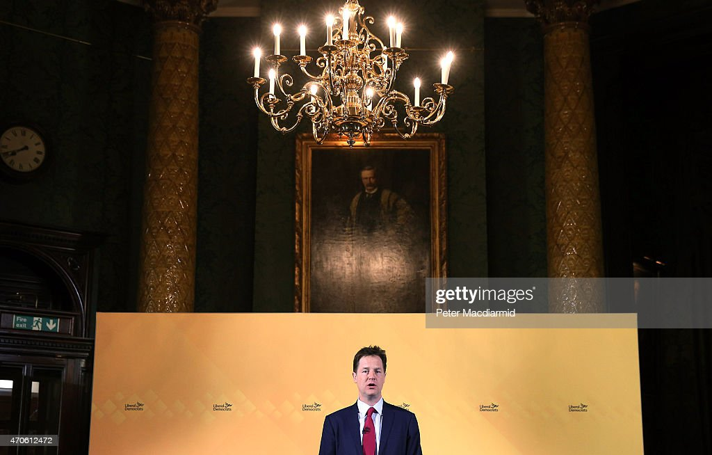 Nick Clegg Speaks At The National Liberal Club : News Photo