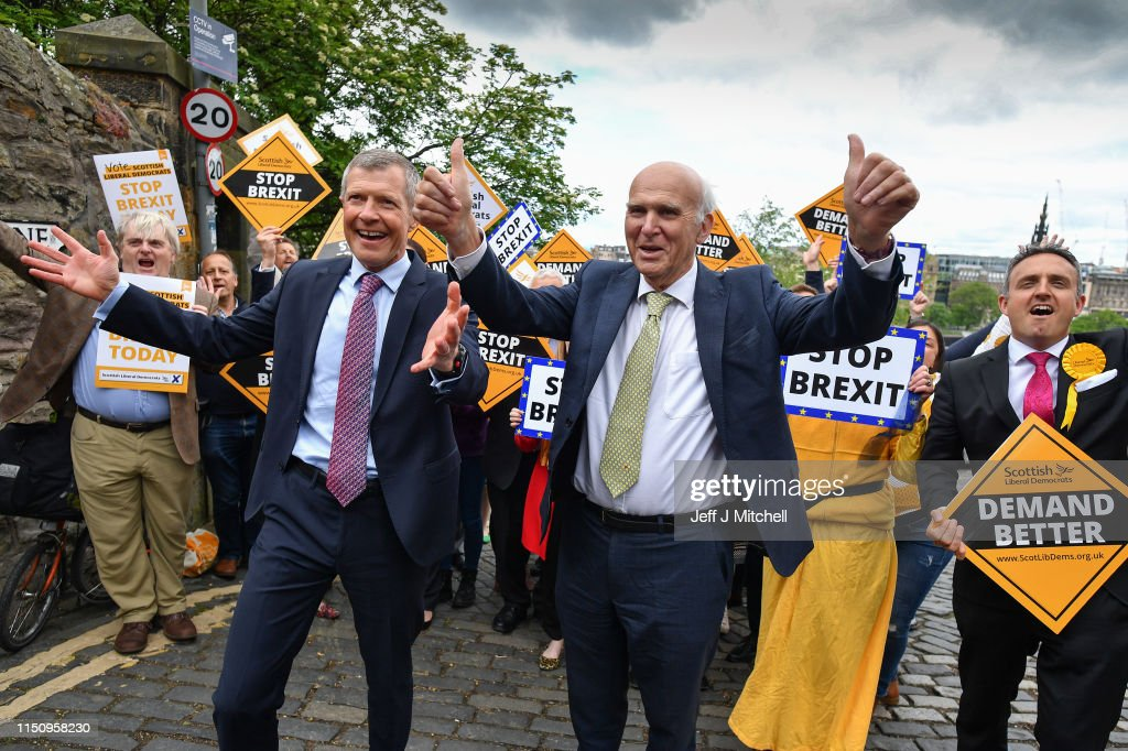 GBR: Vince Cable Campaigns In Edinburgh On The Eve Of The European elections