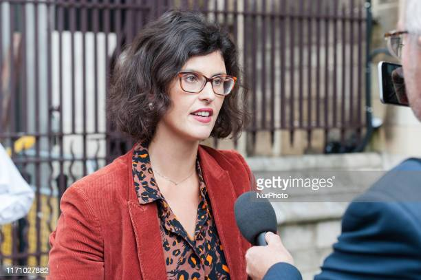 Liberal Democrat MP Layla Moran speaks to the media outside the Houses of Parliament as MPs return to their duties after prorogation has been quashed...
