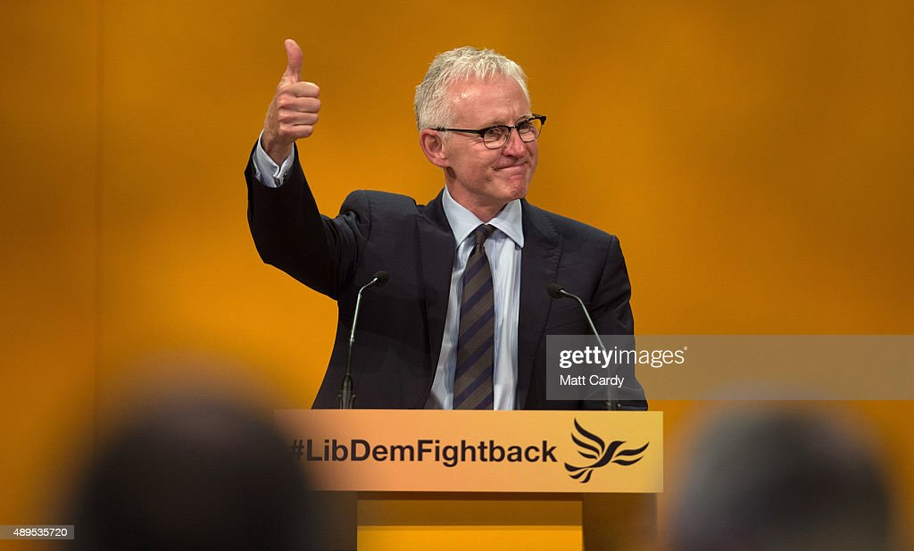 Liberal Democrat MP Norman Lamb speaks on the fourth day of the Liberal Democrats annual conference on September 22, 2015 in Bournemouth, England. The Liberal Democrats are currently holding their annual conference using the hashtag #LibDemfightback in Bournemouth. The conference is the first since the party lost all but eight of its MPs in May's UK general election, however after gaining 20,000 new members since May the party is expecting a record attendance at the event being held at the Bournemouth International Centre.