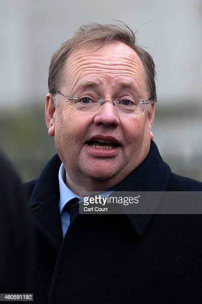 Liberal Democrat party peer Lord Rennard attends the funeral of former Liberal Party party leader Jeremy Thorpe at Saint Margaret's Church on...