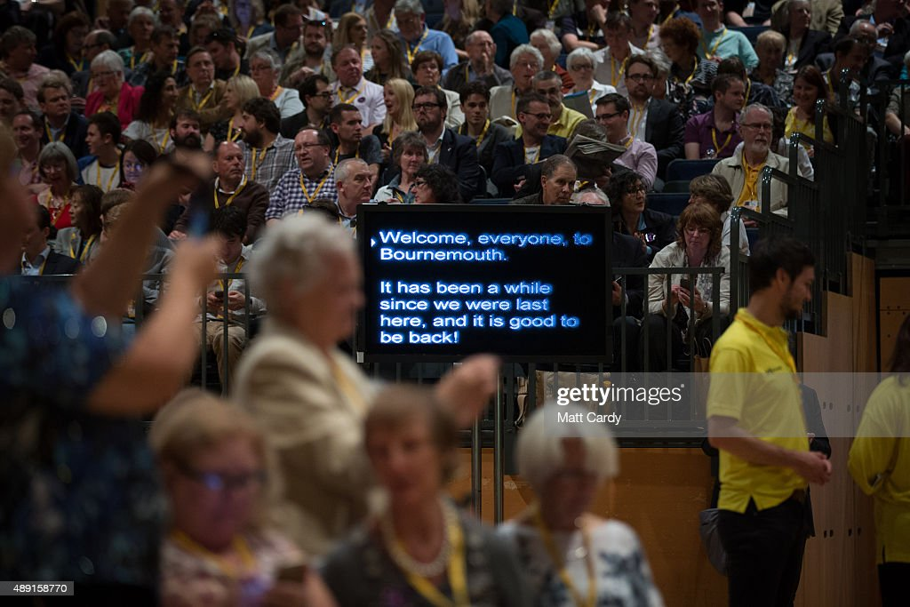 Liberal Democrats Autumn Conference 2015 - Day 1 : News Photo