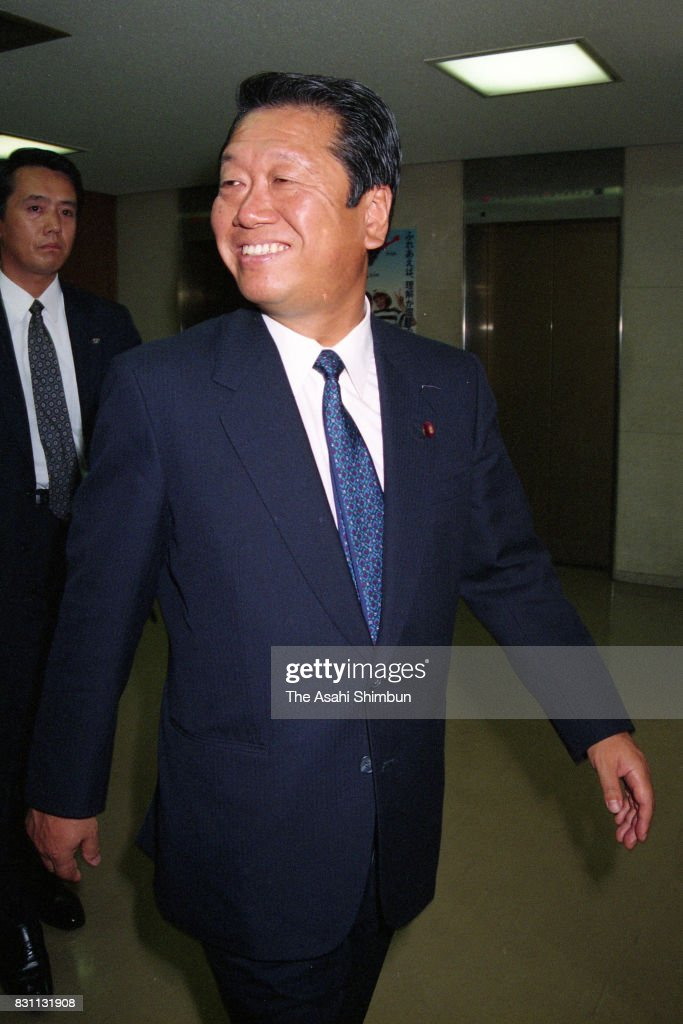 Liberal Democratic Party lawmaker Ichiro Ozawa smiles on arrival at the LDP Politic Reform Promotion meeting after the Lower House is dissolved as the no-confidence motion on Prime Minister Kiichi Miyazawa was passed the Lower House on June 18, 1993 in Tokyo, Japan.