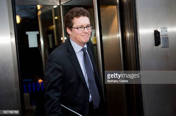 Liberal Democrats Chief Executive Tim Gordon leaves Scotland Yard on February 26 2013 in London England Gordon was speaking to officers from the...