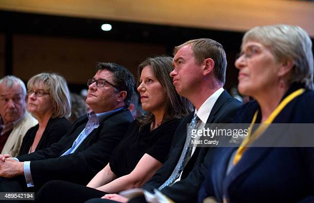 Liberal Democrats join Sarah Gurling as they attend a special tribute to exleader Charles Kennedy on the fourth day of the Liberal Democrats annual...