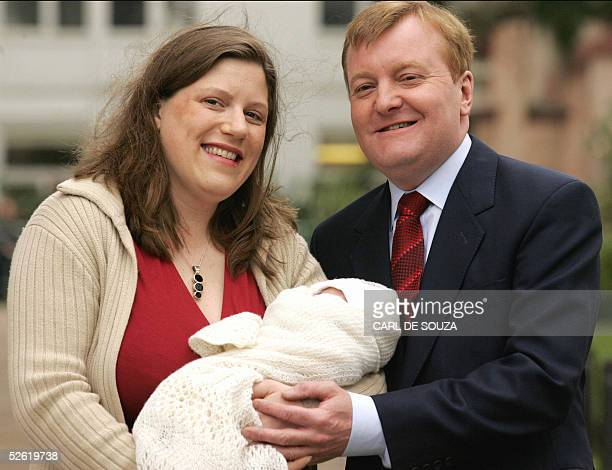 Liberal Democrats leader Charles Kennedy and his wife sarah Kennedy leave St Thomas hospital London after the birth of their son Donald James Kennedy...