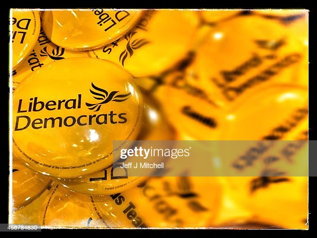 Liberal Democrats merchandise for sale at the party's autumn conference on October 7, 2014 in Glasgow, Scotland. Liberal Democrat activists and supporters are gathering in the city for their final conference before the general election.