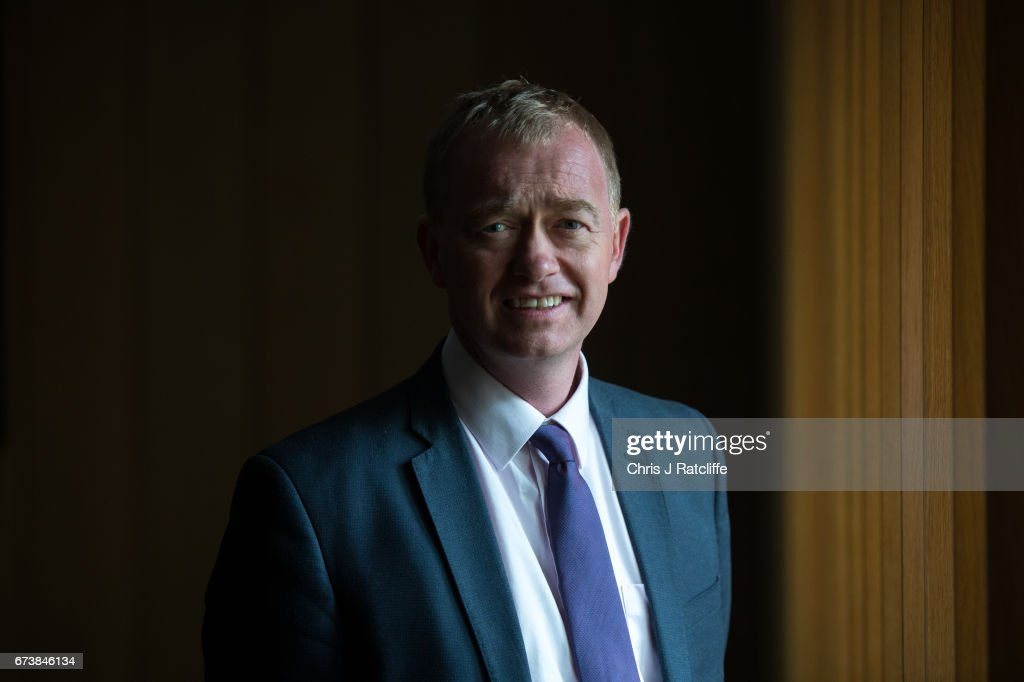 Tim Farron Delivers An Election Campaign Speech At A Housing Charity