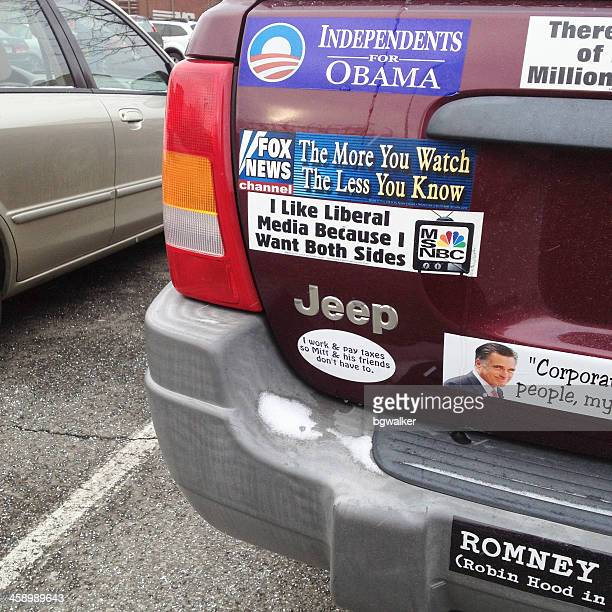 liberal jeep - bumper sticker stock photos and pictures