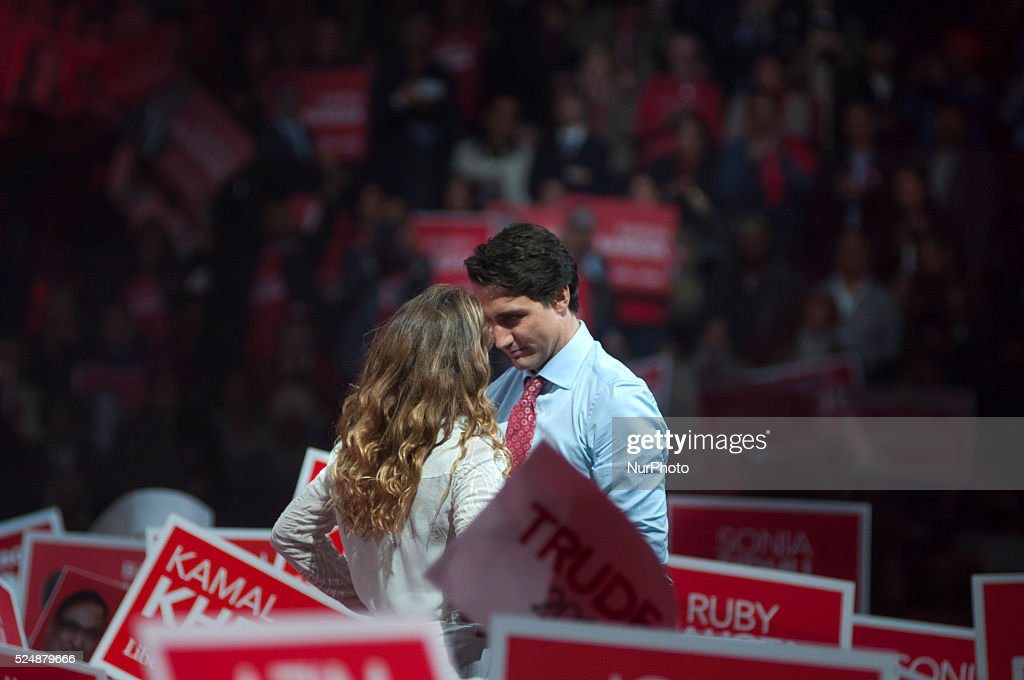 Justin Trudeau election rally, Canada. : News Photo