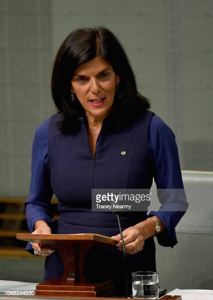 Liberal member for Chisholm Julia Banks at Parliament House on November 26 2018 in Canberra Australia The Morrison government trails Labor by 10...