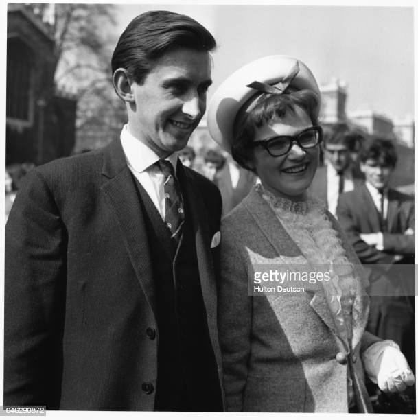 Liberal member of parliament for Roxburgh David Steel with his wife