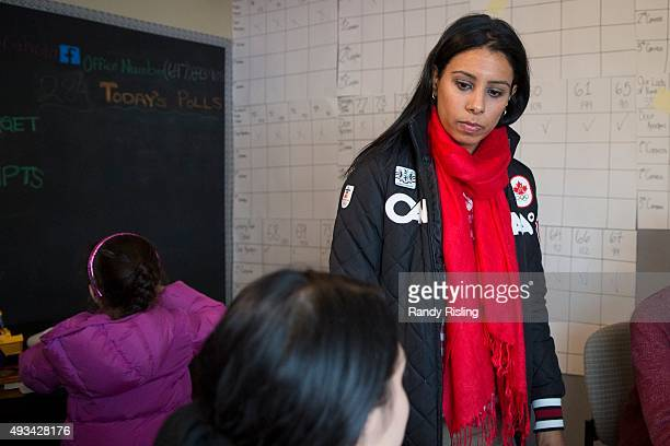 Liberal Party candidate for Brampton North Ruby Sahota at her campaign office at 10788 Bramalea Road Brampton October 19 2015 Randy Risling/Toronto...
