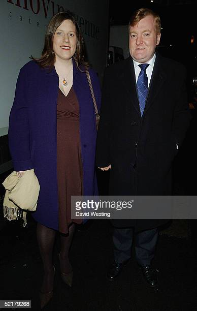 Liberal Party Leader Charles Kennedy and his Wife attend the PreBAFTA's Party Hosted By Vogue Magazine at Cecconni's restaurant on February 10 2005...