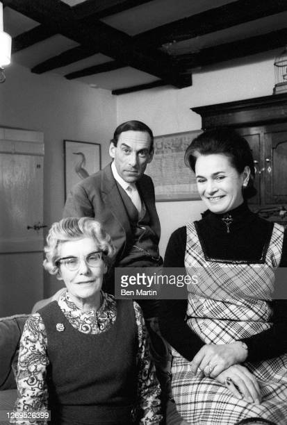 Liberal Party Leader Jeremy Thorpe with wife Marion Stein and mother Ursula, at Queen's Hall, Barnstaple, during the counting of ballots, February...