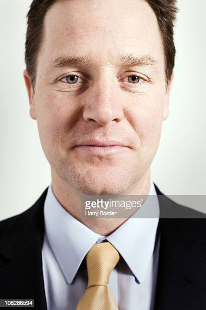 UK Liberal party politician Nick Clegg poses for a portrait shoot in London on January 13 2010