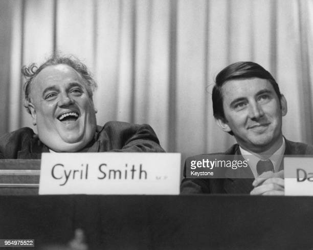 Liberal politicians Cyril Smith and David Steel at the Liberal Party Conference 20th September 1973