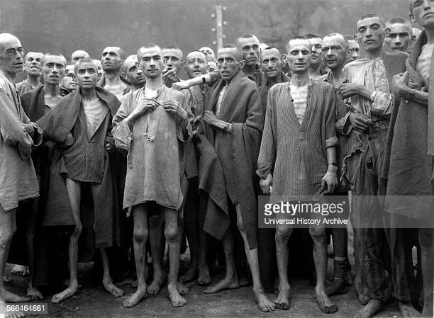 liberated prisoners at Ebensee concentration camp 1945 The Ebensee concentration camp was established by the SS to build tunnels for armaments...