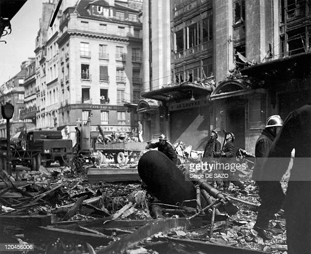 Liberation In Paris France In August 1944 Bombing on rue Saint Honore