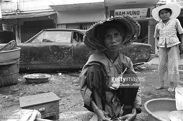 Liberation of Ho Chi Minh Vietnam in July 1975Street scenes