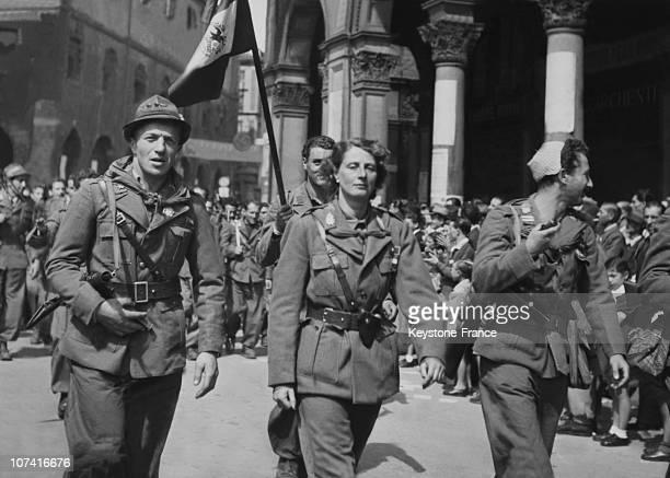 Liberation Of Milan Italian Partisans Parade On May 6Th 1945