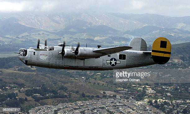 Liberator flies over Ventura County on it's way to Camarillo Airport A WWII era B–17 Flying Fortress and B–24 Liberator arrived in Camarillo Airport...