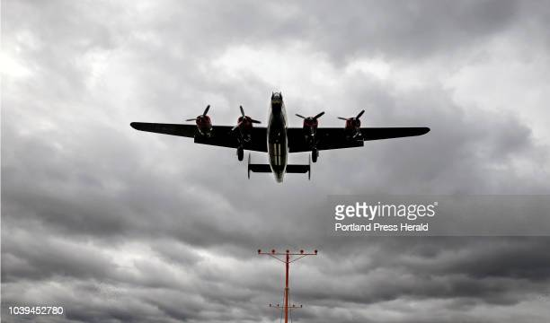 Liberator makes its landing approach on Wednesday at Portland International Jetport The World War IIera plane is the only fully restored and operable...