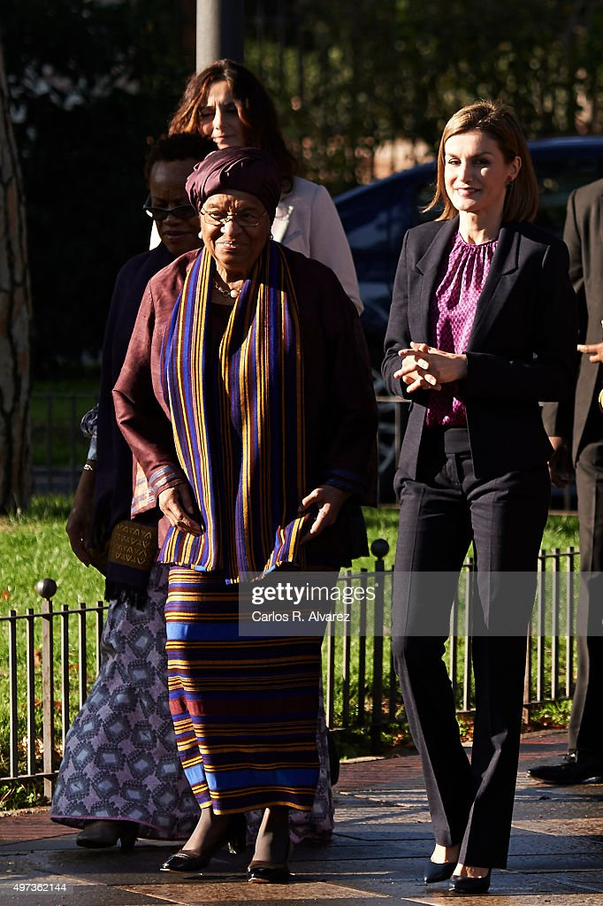 Queen Letizia of Spain Meets 'Mujeres por Africa' Foundation